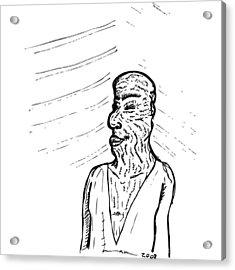 Old Man Acrylic Print by Karl Addison