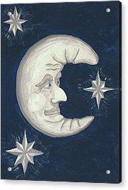 Old Man Moon Acrylic Print by Gordon Wendling