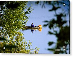 Old Man On The Lake Acrylic Print by David Lee Thompson