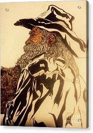Old Man River And His Dog Acrylic Print