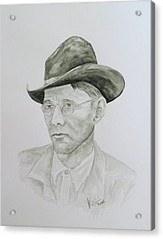 Old Man Acrylic Print by Torrie Smiley