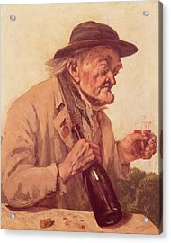 Old Man With A Glass Of Wine Acrylic Print