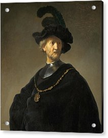 Old Man With A Gold Chain Acrylic Print by Rembrandt