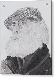 Old Man With Beard Acrylic Print by Quwatha Valentine