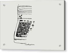 Old Manual Typewriter Acrylic Print by Sheri Buchheit