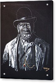 Acrylic Print featuring the painting Old Maori Tane by Richard Le Page