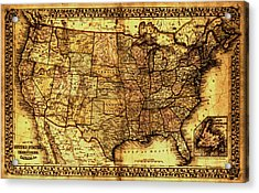 Old Map United States Acrylic Print