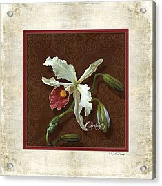 Old Masters Reimagined - Cattleya Orchid Acrylic Print