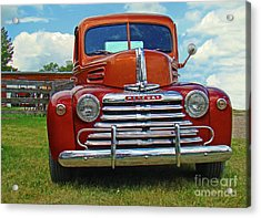 Old Merc Acrylic Print by Al Bourassa