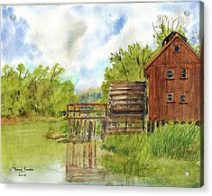 Acrylic Print featuring the painting Old Mill by Barry Jones