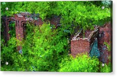 Old Mill Building In Lawrence Massachusetts Acrylic Print