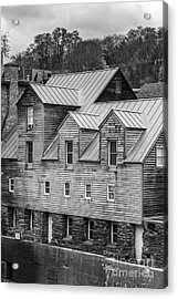 Old Mill Buildings Acrylic Print by Edward Fielding