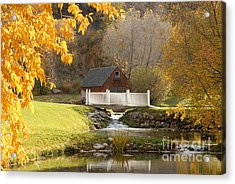 Old Mill In Autumn Acrylic Print by Dennis Hammer