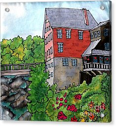 Old Mill In Bradford Acrylic Print by Linda Marcille