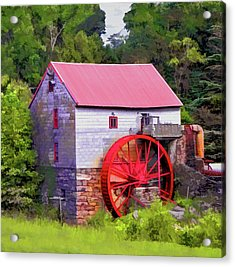 Old Mill Of Guilford Painted Square Acrylic Print