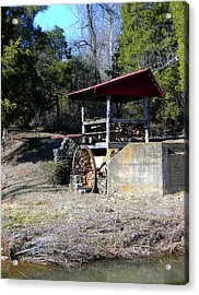Old Mill Of Guilford Pumphouse Acrylic Print by Sandi OReilly