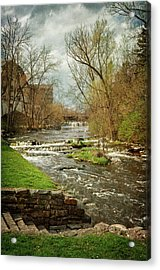 Old Mill On The River Acrylic Print