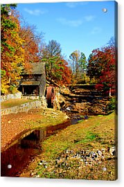 Old Mill Acrylic Print by Ralph  Perdomo