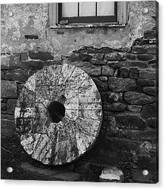 Old Mill Stone Acrylic Print