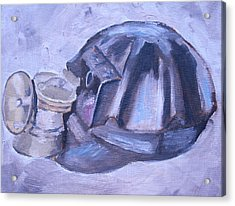Old Miner Hat Acrylic Print by Mikayla Ziegler