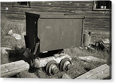 Old Mining Cart Acrylic Print by Richard Rizzo