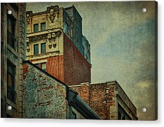 Old Montreal - Architectural Details Acrylic Print by Maria Angelica Maira