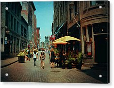 Old Montreal - Quebec Acrylic Print by Maria Angelica Maira