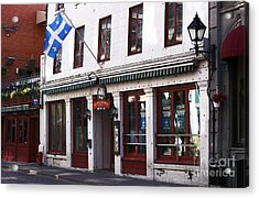 Old Montreal Storefront Acrylic Print by John Rizzuto