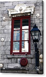Old Montreal Window Acrylic Print by John Rizzuto