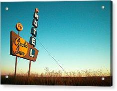 Old Motel Neon Acrylic Print by Todd Klassy
