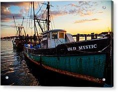 Old Mystic At Dock Acrylic Print by Karol Livote