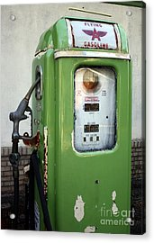 Old National Gas Pump Acrylic Print by DazzleMePhotography
