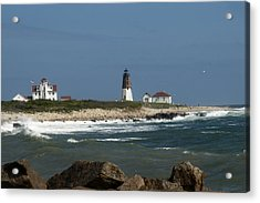 Old New England Lighthouse Acrylic Print by Barry Doherty