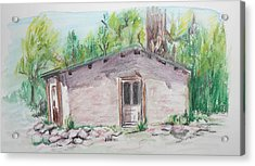 Old New Mexico House Acrylic Print