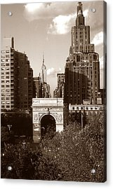 Washington Arch And New York University Acrylic Print