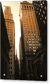 Old New York Wall Street Acrylic Print