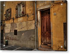 Acrylic Print featuring the photograph Old Nice - Vieille Ville 008 by Lance Vaughn