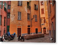 Acrylic Print featuring the photograph Old Nice - Vieille Ville 010 by Lance Vaughn
