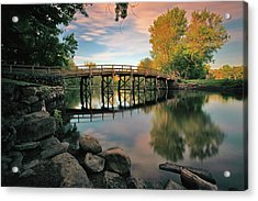 Old North Bridge Acrylic Print by Rick Berk