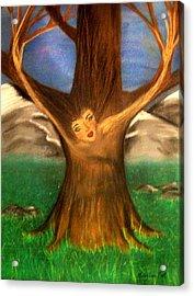 Old Oak Tree Acrylic Print by Misty VanPool