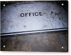 Old Office- Urban Photography By Linda Woods Acrylic Print by Linda Woods