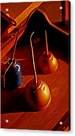 Old Oil Cans Acrylic Print