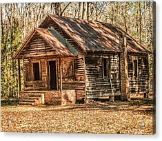 Old One Room School House Acrylic Print by Phillip Burrow