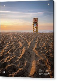 Old Orchard Beach Lifeguard Tower Acrylic Print