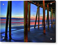 Old Orchard Beach Pier -maine Coastal Art Acrylic Print
