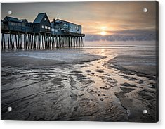 Old Orchard Beach Sea Smoke Sunrise Acrylic Print