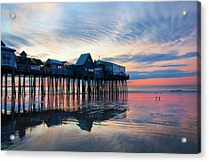 Old Orchard Beach Sunrise - Maine Acrylic Print