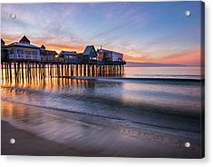 Acrylic Print featuring the photograph Old Orchard Beach by Expressive Landscapes Fine Art Photography by Thom