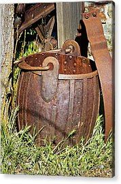 Old Ore Bucket Acrylic Print by Phyllis Denton