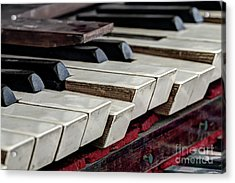Acrylic Print featuring the photograph Old Organ Keys by Michal Boubin